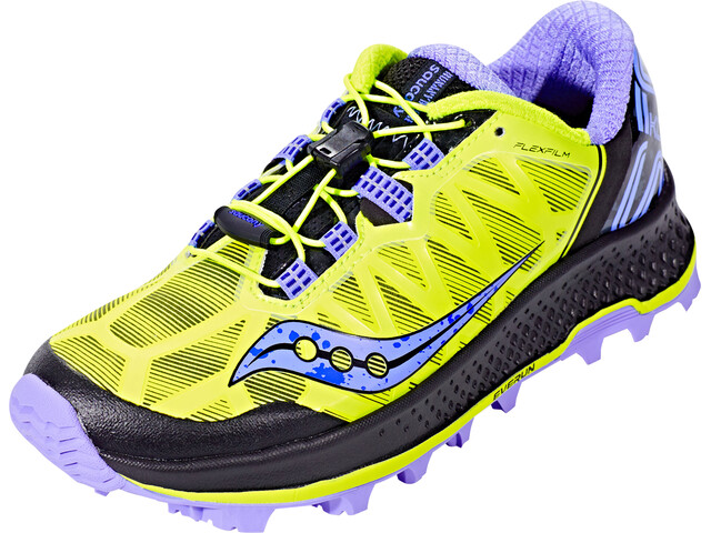 saucony Koa ST Running Shoes Women Citron/Blue